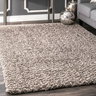 nuLoom Contemporary Moroccan-inspired Luxuries Soft and Plush Solid Chevron Brown Shag Rug (5' x 8')