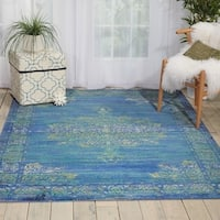 Nourison Cambria Traditional Teal Runner Rug (2'X5'11)