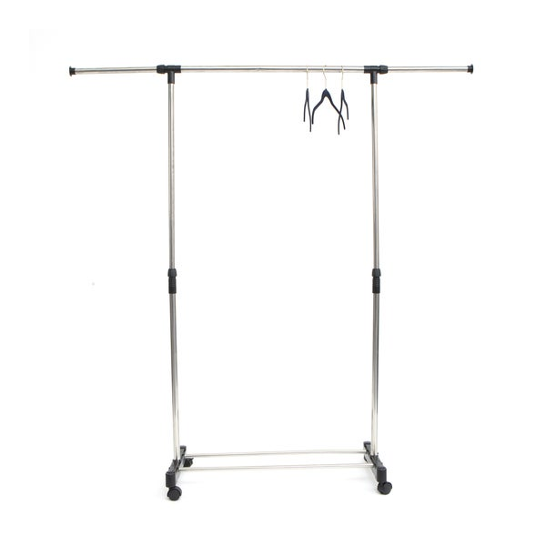 Mind Reader U0026#x27;Extendu0026#x27; Stainless Steel Adjustable Garment Rack,
