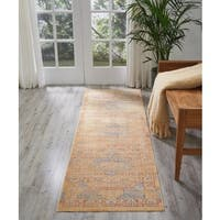 Nourison Cambria Blue/Russet Runner Rug