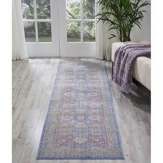 Nourison Cambria Blue Traditional Runner Rug (2'3 X7'10 )