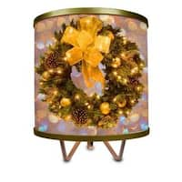 Golden Holiday Wreath More Than a Lamp, Framed Art Now Comes Down From the Wall