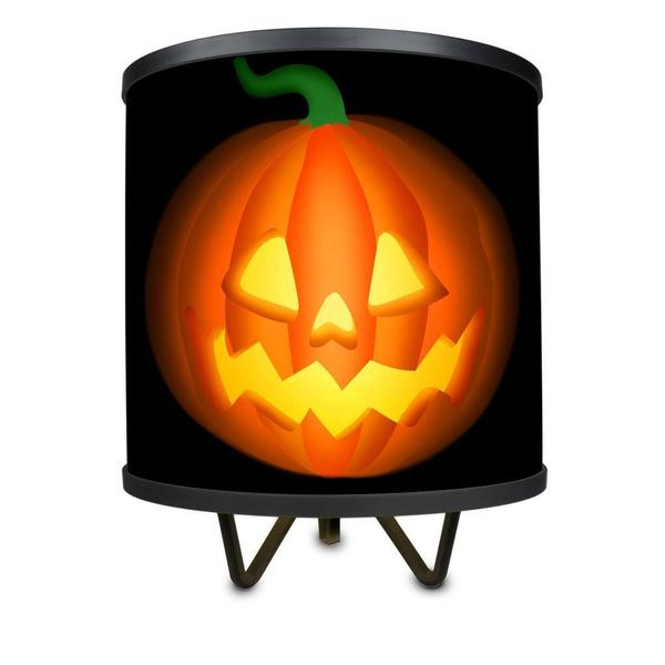 Halloween Jack-o-Lantern More Than a Lamp, Framed Art Now Comes Down From the Wall