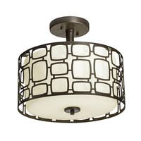Aztec Lighting Transitional 2-light Olde Bronze Semi-flush Mount