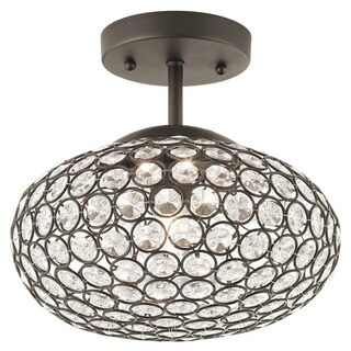 Aztec Lighting Transitional 1-light Olde Bronze Halogen Semi-Flush Mount