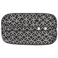 No Knot Necklace Carrier Jewelry Carrier and Jewelry Storage   Keeps Your Jewelry Tangle Free - Black & Silver