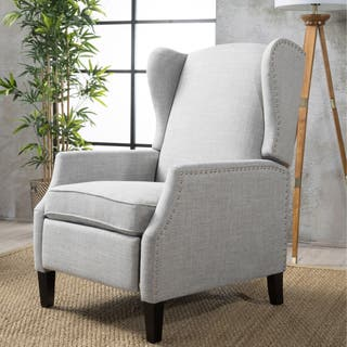 Wescott Wingback Fabric Recliner Club Chair by Christopher Knight Home in Navy Blue(As Is Item)|https://ak1.ostkcdn.com/images/products/18057967/P91026459.jpg?impolicy=medium