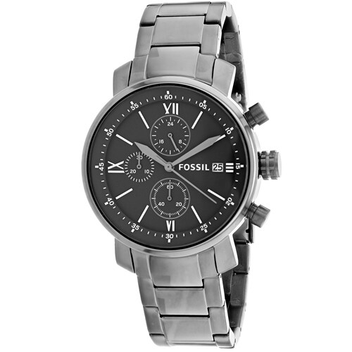 f430287b9ea Shop Fossil Men s BQ1004  Rhett  Chronograph Grey Stainless Steel Watch -  Free Shipping Today - Overstock - 18057973