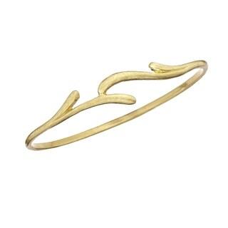 Isla Simone Brushed Gold Tone Vine Bangle Bracelet