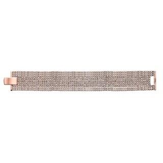 Isla Simone Rose Gold Plated 11 Row Crystal Bracelet