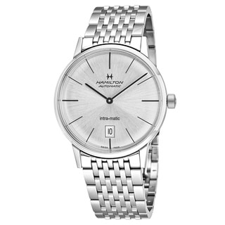Hamilton Men's H38455151 'Timeless Class' Silver Dial Stainless Steel Swiss Intra-matic Watch