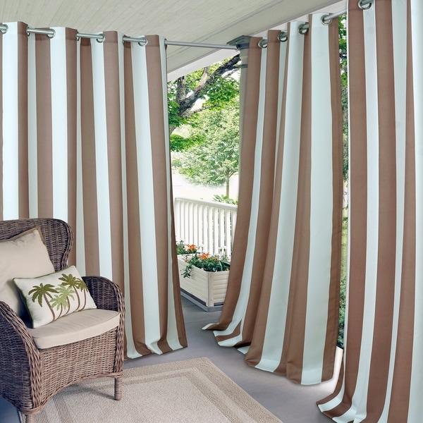 Elrene Aiden Stripe Indoor/Outdoor Grommet Window Panel
