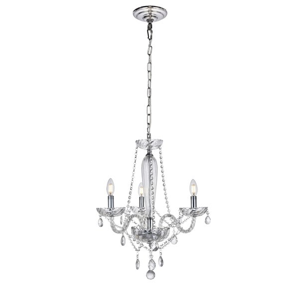 Verdi Collection Chandelier D21 H25 Lt:3 Chrome Finish