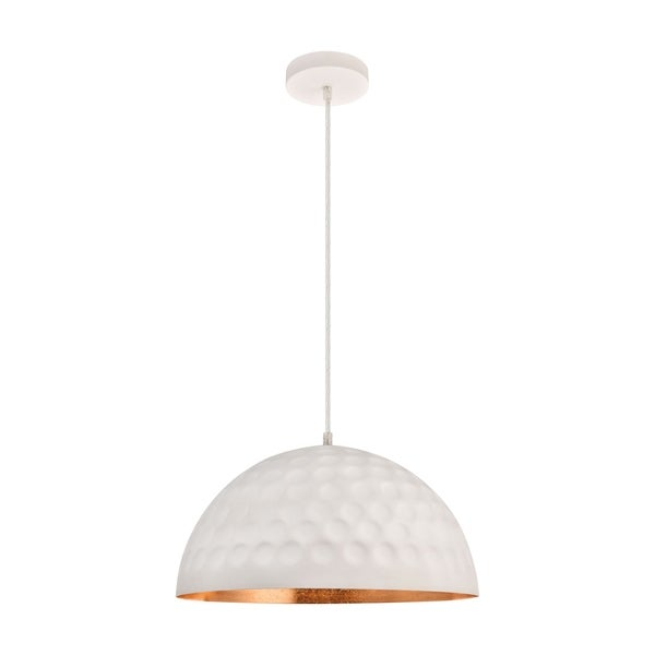 Clio Collection Pendant D15.7 H8.5 Lt:1 Outside White and Inside Gold Leaf Finish