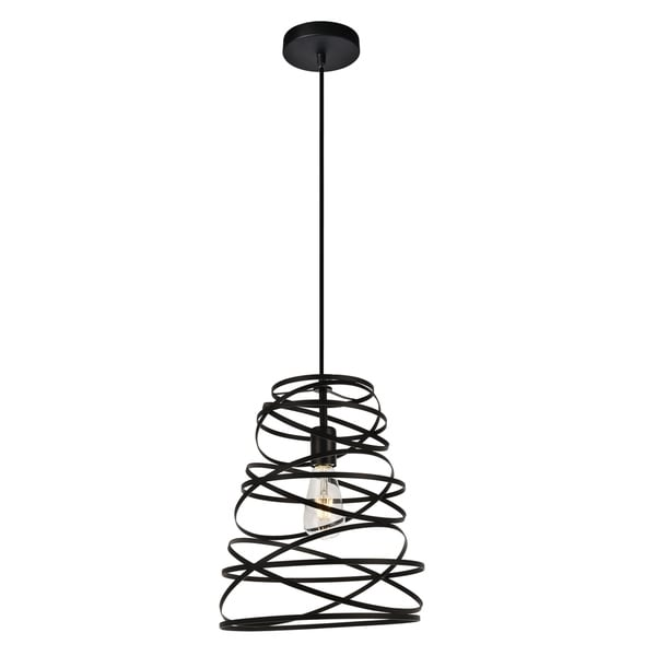 Sybil Collection Pendant D11.8 H14.8 Lt:1 Matte Black Finish
