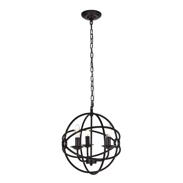 Octavia Collection Pendant D14 H15 Lt:3 Dark brown Finish