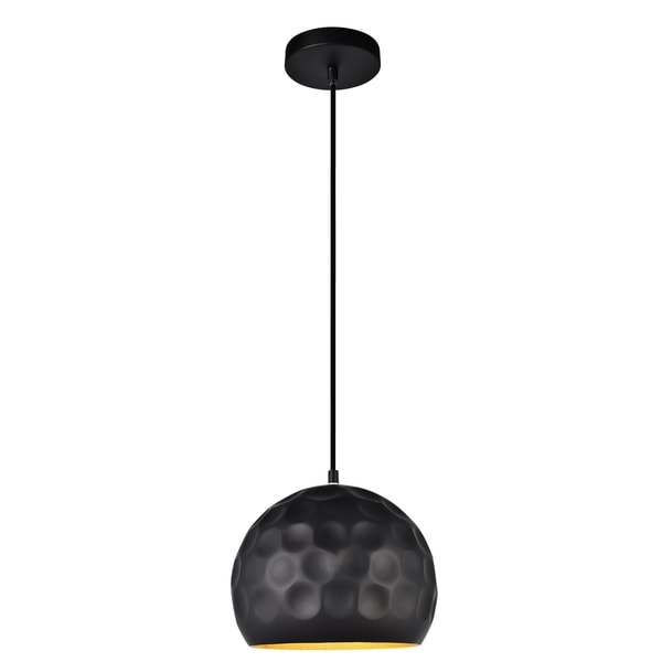 Clio Collection Pendant D9.8 H8.1 Lt:1 Matte Black Finish