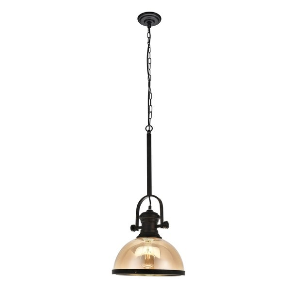 Gracia Collection Pendant D12.2 H27.55 Lt:1 Rusty and Coffee Finish