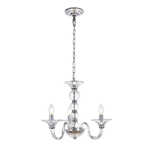Vale Collection Chandelier D20 H15.5 Lt:3 Chrome Finish