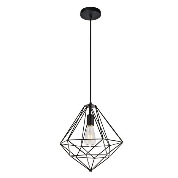 Poe Collection Pendant D13.7 H14.9 Lt:1 Dark Bronze Finish