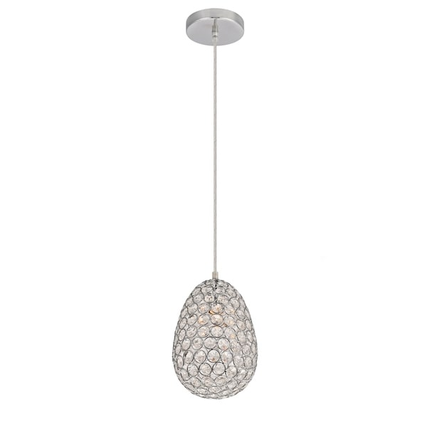Celestia Collection Pendant D6.5 H10 Lt:1 Chrome Finish