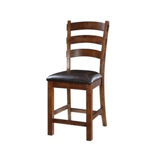 Castlegate Chocolate Bonded Leather 30-inch Barstool (Set of 2)
