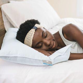 Extra Soft Cotton Damask Down Alternative Stomach Sleeper Pillow - Blue