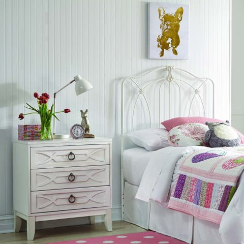 Leggett & Platt Kids Kaylin Metal Headboard in Antiqued White