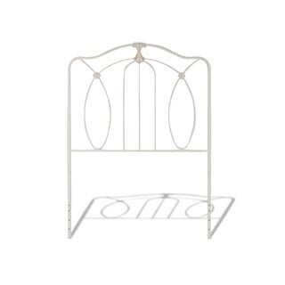 Fashion Bed Group Kids Kaylin Metal Headboard in Antiqued White