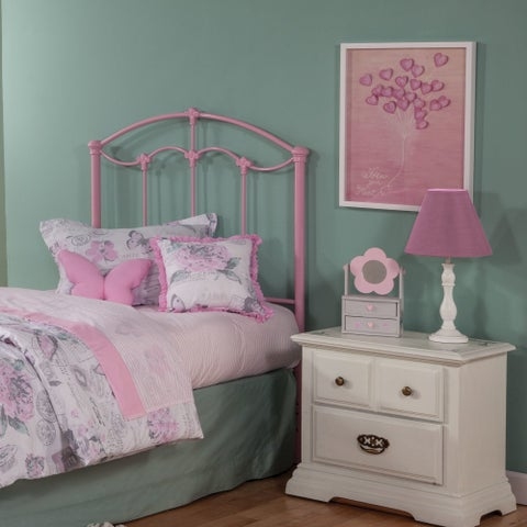 Fashion Bed Group Kids Amberley Metal Headboard in Cotton Candy Pink