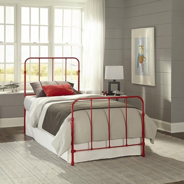 Leggett & Platt Kids Nolan Metal Bed in Candy Red