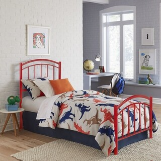 Fashion Bed Group Kids Rylan Metal Bed in Tomato Red
