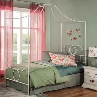 Fashion Bed Group Kids Emsworth Metal Canopy Bed in White & Canopy Bed Kidsu0027 u0026 Toddler Beds For Less | Overstock.com