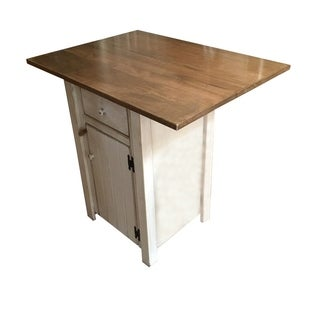 Primitive Rustic Country Wooden Counter Height Kitchen Island