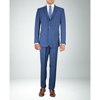 Carlo Studio Blue on Black Check Suit