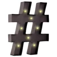 LED Marquee Wall Letter Symbol Light Up # Hashtag Number Pound Sign