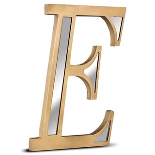 American Art Decor Gold Wall Letter with Acrylic Mirrors Hanging Initial E