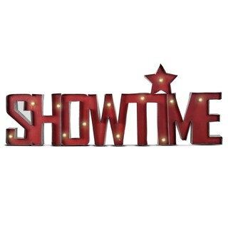 Showtime LED Red Marquee Star Sign Wall Decor