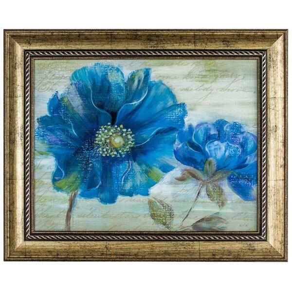 shop blue poppy poem i framed impressionism canvas painting print