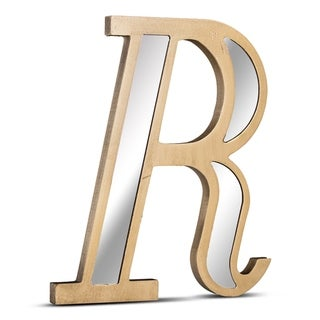 Gold Wall Letter with Acrylic Mirrors Hanging Initial R