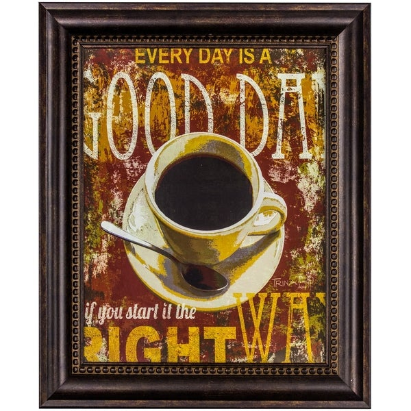 Shop Every Day is a Good Day Framed Coffee Graphic Print Wall Art ...