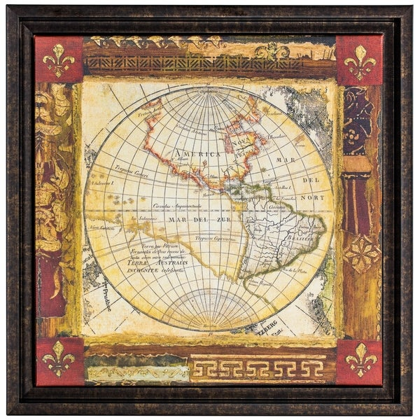 Corners of the earth detail ii framed world map wrapped canvas corners of the earth detail ii framed world map wrapped canvas painting print wall art decor gumiabroncs Gallery