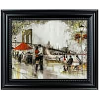 """New York Romance"" Framed Impressionism Canvas Painting Print Wall Art Decor"