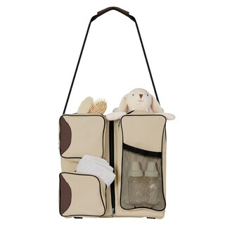 Dream On Me Allea 3 in 1 - Diaper bag, Portable Napper and changing Station In Vanilla and Brown