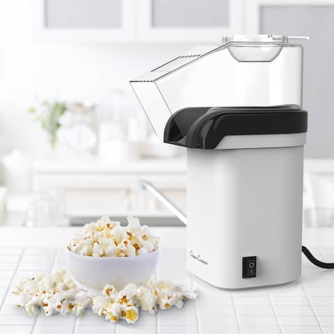 Hot Air Popcorn Popper Electric Popcorn Maker Machine for Healthy Oil-Free by Classic Cuisine