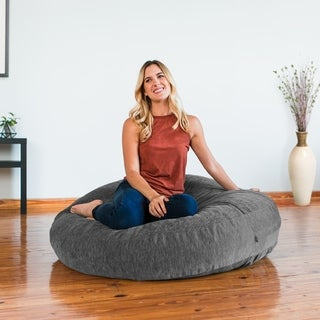Jaxx Cocoon Bean Bag Lounger with Chenille Cover