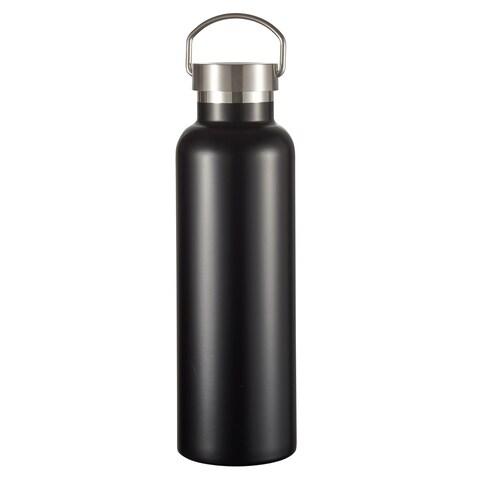 Visol James Matte Black Insulated Water Bottle- 24 Ounce
