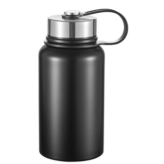 Visol Seeder Matte Black Vacuum Water Bottle- 20 Ounce
