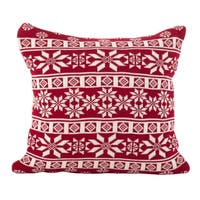 Winter Snowflake Nordic Design Accent Cushion Poly Filled Throw Pillow