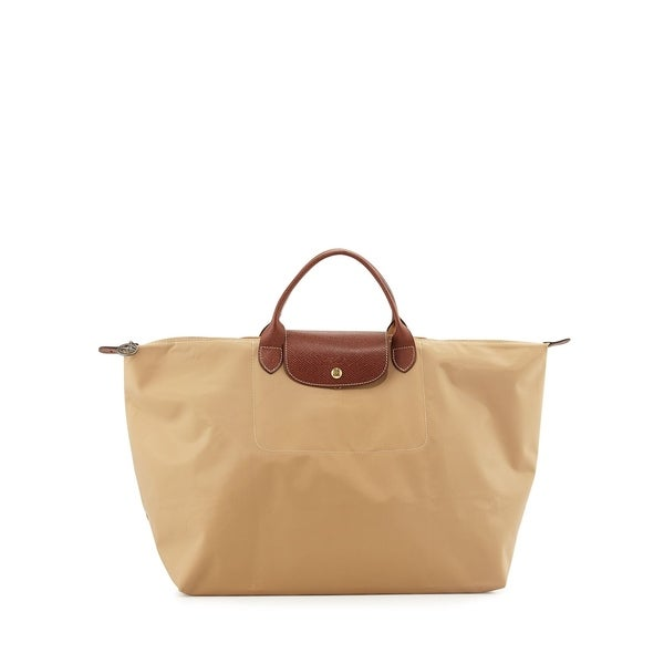 092d3d5e60e6 Shop Longchamp Le Pliage Large Travel Bag-Beige - Free Shipping ...